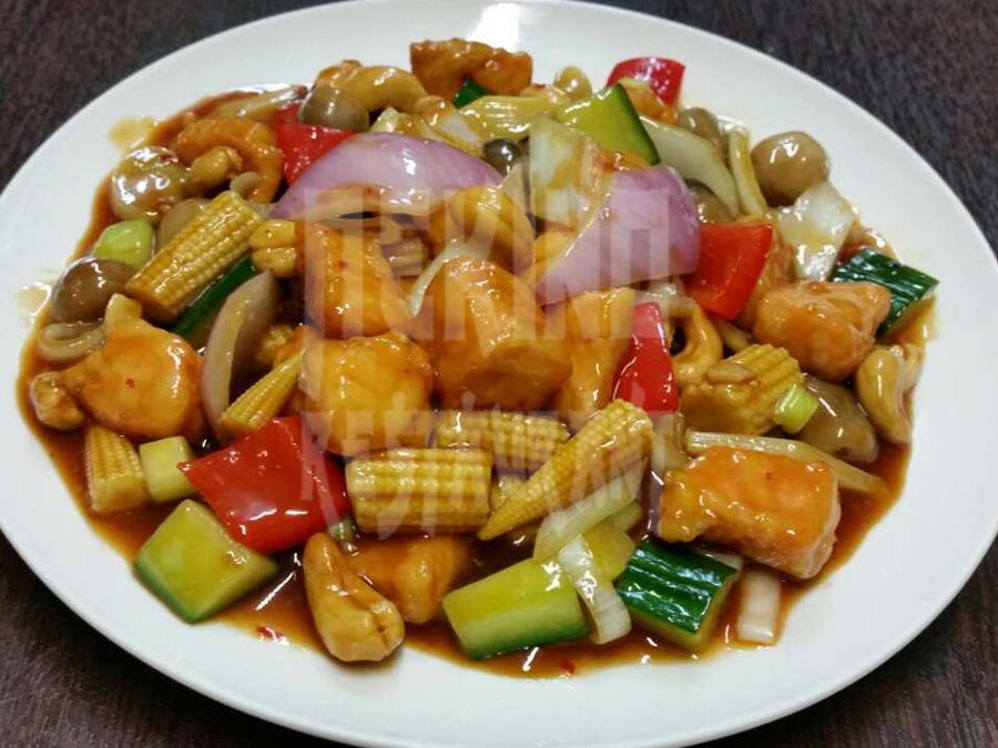 Ψάρι Κονγκ-πάο (ψάρι σε φέτες)